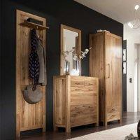 Flur Garderobe Luxus Flurmöbel Set in Wildeichefarben online kaufen