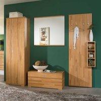 Luxus Garderobenkombination aus Kernbuche Massivholz