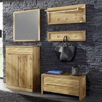 Flur Garderobe Luxus Garderobenkombination aus Wildeiche Massivholz