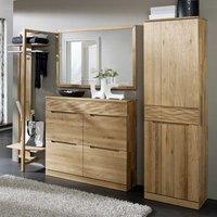 Luxus Flurmöbel Garderobenmöbel Set aus Wildeiche Massivholz