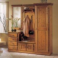 Luxus Flur Garderobe Landhausstil aus Massivholz Fichte