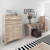 Flur Garderobe Luxus Dielenmöbel aus Eiche Massivholz Weiß geölt