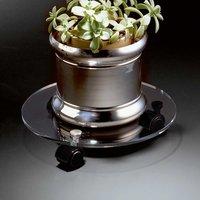 Blumenroller aus Acrylglas klar Rund