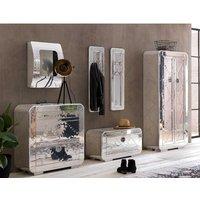 Luxus Flur Garderobe Industriedesign  in Silberfarben Aluminium