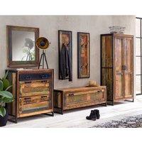 Luxus Dielenmöbel Set aus Massivholz Metall Shabby