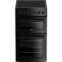 Beko EDVC503B 50cm Electric Cooker with Double Oven, Black