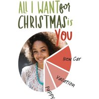 """Image of All I Want For Christmas 7x5"""" (18x13cm) Folded Greeting Cards, Card & Stationery White"""
