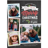 "Image of Christmas Banner White 8x6"" (20x15cm) Flat Card set of 20 (matt cardstock), Card & Stationery square Gray"