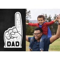 """Image of #1 Dad 7x5"""" (18x13cm) Folded Greeting Cards, Card & Stationery Black"""