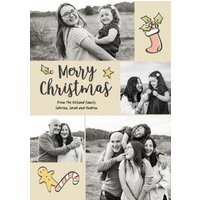 "Image of Hand Drawn Christmas 8x6"" (20x15cm) Flat Card set of 20 (matt cardstock), Card & Stationery square Brown"