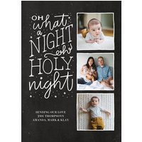 "Image of A Holy Night 8x6"" (20x15cm) Flat Card set of 20 (matt cardstock), rounded corners, Card & Stationery Gray"