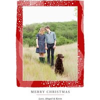 """Image of Christmas Border 7x5"""" (18x13cm) Folded Greeting Cards, Card & Stationery Red"""
