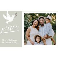 "Image of Dove Of Peace 7x5"" (18x13cm) Flat Card set of 20 (matt cardstock), rounded corners, Card & Stationery Gray"
