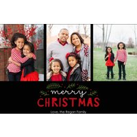 "Image of Classic Christmas 7x5"" (18x13cm) Flat Card set of 20 (matt cardstock), rounded corners, Card & Stationery Black"