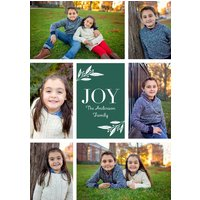 "Image of Joy Frame 7x5"" (18x13cm) Flat Card set of 20 (gloss cardstock), rounded corners, Card & Stationery Green"