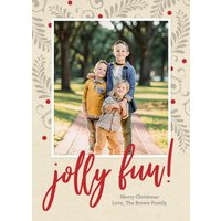 "Image of Jolly Fun 8x6"" (20x15cm) Flat Card set of 20 (gloss cardstock), Card & Stationery square Brown"