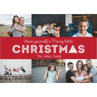 """Image of Christmas Tree 7x5"""" (18x13cm) Folded Greeting Cards, Card & Stationery Red"""