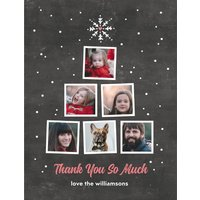 """Image of Family Tree Thank You 5.5x4.25"""" (14x11cm) Notecard sets (12 per set), Card & Stationery Gray"""