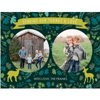 """Image of Most Awesome Xmas Thank You 5.5x4.25"""" (14x11cm) Notecard sets (12 per set), Card & Stationery Green"""