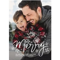 "Image of Merry Snowfall 7x5"" (18x13cm) Flat Card set of 20 (gloss cardstock), rounded corners, Card & Stationery White"