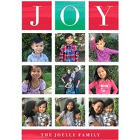 "Image of Joy Blocks 7x5"" (18x13cm) Flat Card set of 20 (gloss cardstock), Card & Stationery square White"