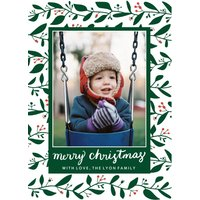 "Image of Dancing Mistletoe 7x5"" (18x13cm) Flat Card set of 20 (gloss cardstock), Card & Stationery square Green"