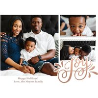 "Image of Christmas Joy Script 8x6"" (20x15cm) Flat Card set of 20 (gloss cardstock), Card & Stationery square Pink"