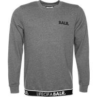 BALR. LOAB Lounge Straight Crew Neck Sweater Dark Grey – Grey