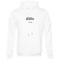 BALR. Contrasting Logo Straight Hoodie White