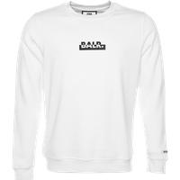 BALR. Contrasting Logo Straight Crew Neck Sweater White