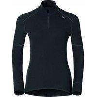 Odlo Ladies Shirt LS Turtle Neck 1-2 Zip X-Warm Black (XL)