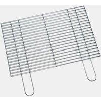 Boomex rechthoekig grillrooster gemaakt van verchroomt staal. de draaddikte is 4,8 mm en de afstand tussen de ...