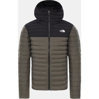 The North Face Stretch Down Hoody Taupe-Zwart