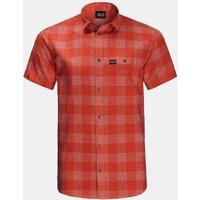 Jack Wolfskin Highlands Shirt Middenrood-Geschakeerd