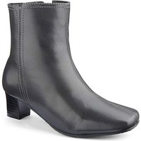 Leather Ankle Boots E Fit