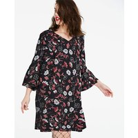 Flared Long Sleeve Dress