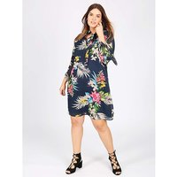Lovedrobe GB tropical print shift dress