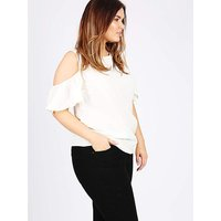 Koko white cold shoulder top