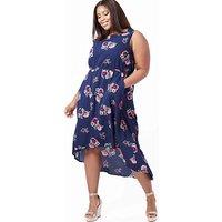 Blue Vanilla Curve Hi-Low Maxi Dress