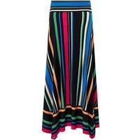 Monsoon Colette Stripe Hanky Hem Skirt