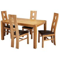 Hendon Oak Dining Table 4 Rutland Chairs.