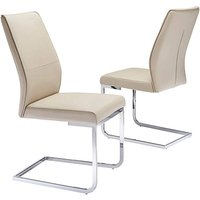 Pair of Atlanta Cantilever Dining Chairs.