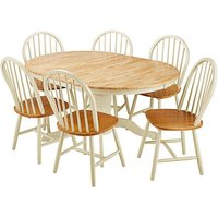 Padstow Oval Extension Table 6 Chairs