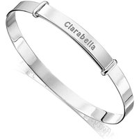 Silver Personalised Childrens Bangle.