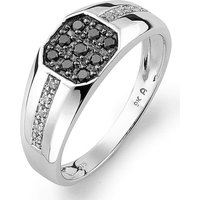 Gents 9ct White Gold & Diamond Ring