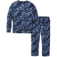 Blue Camo Fleece Pyjama Set