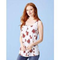Ivory Floral Printed Vest Top