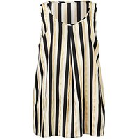 Stripe Foil Print Sleeveless Vest Top