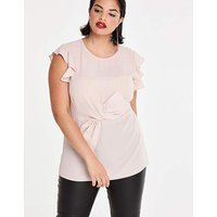 Pink Bow Front Blouse