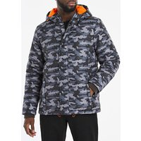 Camo Quilted Padded Puffer Jacket.